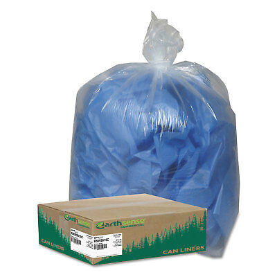 Earthsense Clear Recycled Can Liners 55-60gal 1.5mil Clear 100/Carton RNW5815C