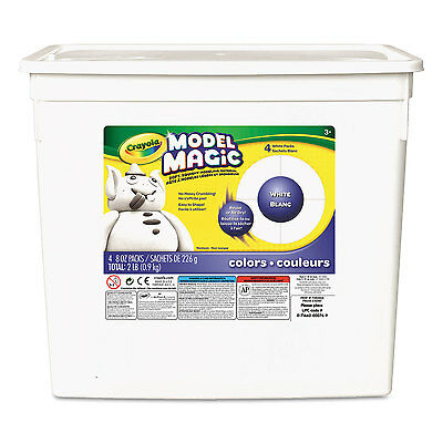 Crayola Model Magic Modeling Compound 8 oz each packet White 2 lbs. 574400
