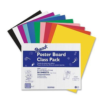 "Pacon Posterboard 4-Ply 22""x28"" 50 Shts Assorted 76347"