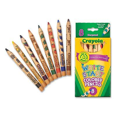 Crayola Colored Pencils Hexagon Shape 5.3mm Tip 8/ST Assorted 684108