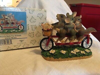 """Charming Tails """"Bicycle Built for Friends"""" Fitz and Floyd"""
