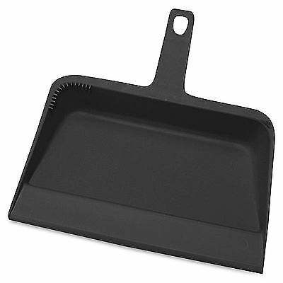 "Genuine Joe Dust Pan Heavy-Duty Plastic 12"" Black 02406"