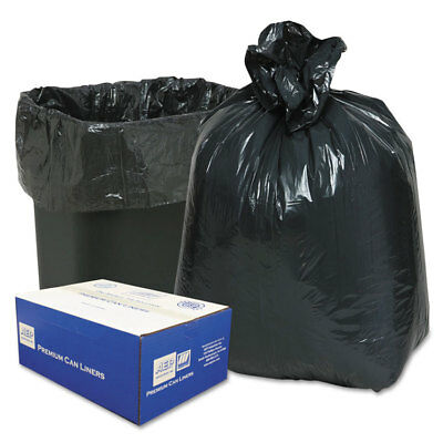 Classic 2-Ply Low-Density Can Liners 7-10gal .6mil 24 x 23 Black 500/Carton
