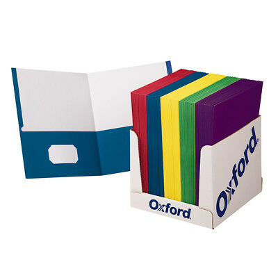 Oxford School Grade Twin Pocket Folders 100 Per Box 50763