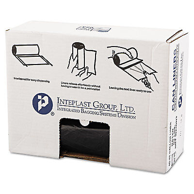 Inteplast Group High-Density Can Liner 40 x 46 45gal 22mic Black 25/Roll 6 Rolls