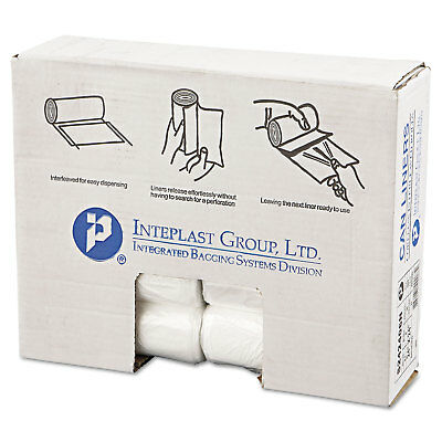Inteplast Group High-Density Can Liner 24 x 24 10gal 6mic Natural 50/Roll 20