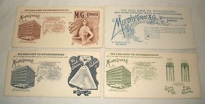 Vintage Advertising Ink Blotter Lot Murphy Grant & Co San Francisco Corsets etc