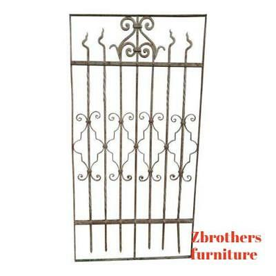 Antique Victorian Iron Gate Window Garden Fence Architectural Salvage #833