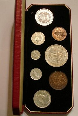 8 piece 1953 PROOF SET of New Zealand original Gem PROOF with Box of Issue