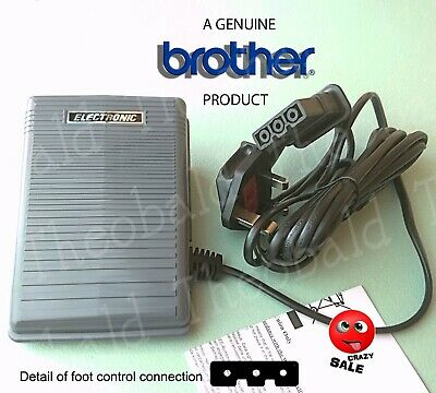 Genuine Brother Electronic Sewing Machine Foot Control/Pedal.fits Most Brothers