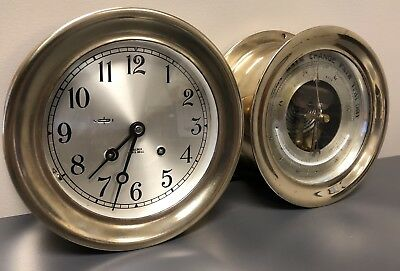 "Chelsea ""ships Bell"" Clock And Barometer ~Ser.# 833693~ Running~ No Reserve!!"