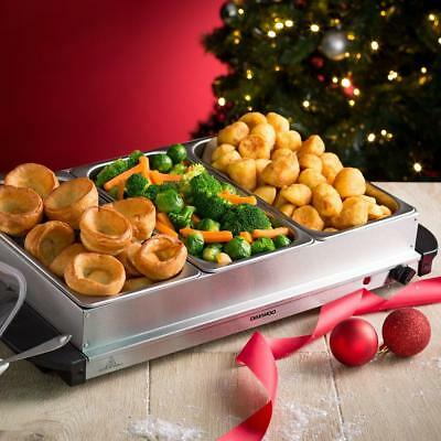 Buffet Server Large Food Warmer Mains Powered Stainless Steel Removable Frame