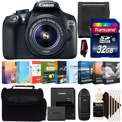 Canon EOS Rebel T6 DSLR Camera with 18-55mm Lens and Photo Editing Software Kit