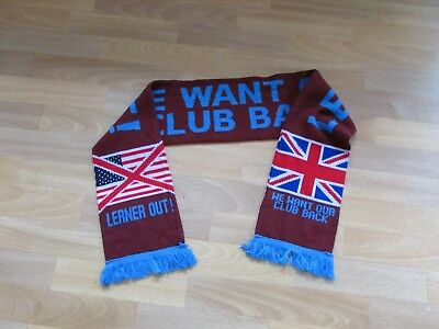 Lerner Out Liverpool we Want our Club Back FOOTBALL Scarf