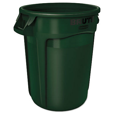 Rubbermaid Commercial Round Brute Container Plastic 32 gal Dark Green 2632DGR