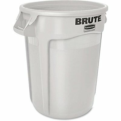 Rubbermaid Commercial Round Brute Container Plastic 32 gal White 2632WHI