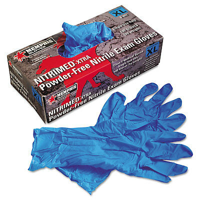 Memphis Nitri-Med Disposable Nitrile Gloves Blue Extra Large 100/Box 6012XL