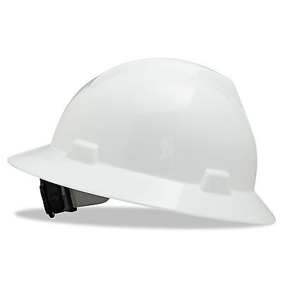 Msa V-Gard Hard Hats Fas-Trac Ratchet Suspension Size 6 1/2 - 8 White 475369
