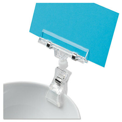 Deflecto Clips Grips Tags VersaGrip Sign Holder 3 x 1 x 4 Clear 20007