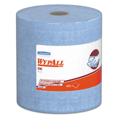 WypAll* X90 Cloths Jumbo Roll 11 1/10 x 13 2/5 Denim Blue 450/Roll 1 Roll/Carton