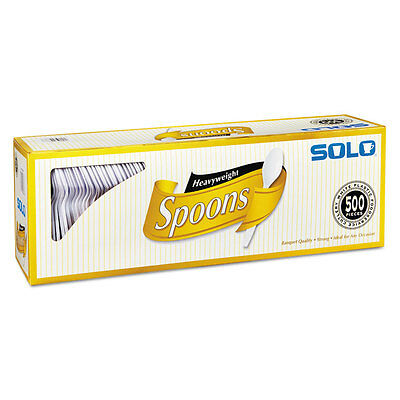 SOLO CUPS Heavyweight Plastic Cutlery Spoons White 6 in 500/Carton 827272