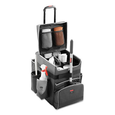 Rubbermaid Commercial Executive Quick Cart Small 14 1/4 x 16 1/2 x 17 Dark Gray