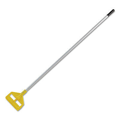 "Rubbermaid Commercial Invader Aluminum Side-Gate Wet-Mop Handle 60"" Gray/Yellow"