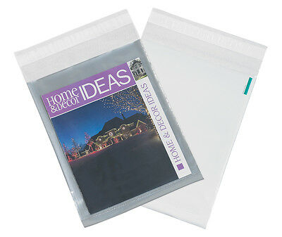 "Box Partners Clear View Poly Envelopes 10"" x 13"" Clear/White 500/Case CV1013"