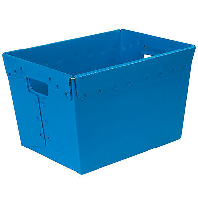 "Box Partners Space Age Totes 18"" x 13"" x 12"" Blue 6/Case BINS185"