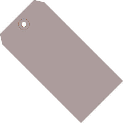 """Box Partners Shipping Tags 13 Pt. 4 3/4"""" x 2 3/8"""" Gray 1000/Case G11051F"""
