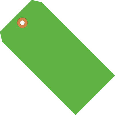 """Box Partners Shipping Tags 13 Pt. 4 3/4"""" x 2 3/8"""" Fluorescent Green 1000/Case"""