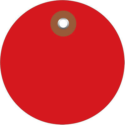 """Box Partners Plastic Circle Tags 3"""" Red 100/Each G26077"""