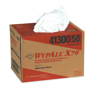 WypAll X70 Industrial Wipers Dispenser Box White 152/Case KW105