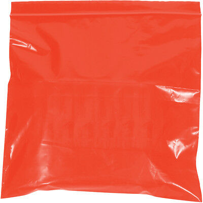 """Box Partners Reclosable 2 Mil Poly Bags 10"""" x 12"""" Red 1000/Case PB3655R"""