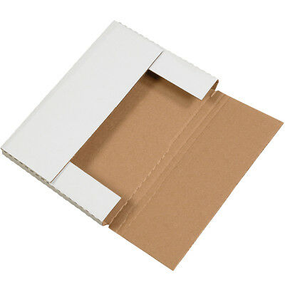 "Box Partners Easy-Fold Mailers 14 1/8"" x 8 5/8"" x 1"" White 50/Bundle M1491"