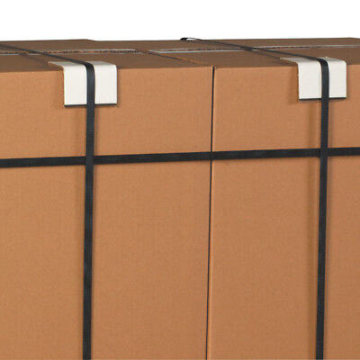 """Box Partners Strapping Protectors .160 3"""" x 3"""" x 6"""" White 480/Case SP336160"""