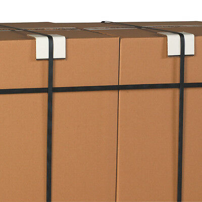 """Box Partners Strapping Protectors .225 3"""" x 3"""" x 6"""" White 300/Case SP336225"""