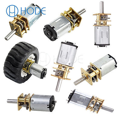 GA12-N20 30-1000RPM Miniature Metal Electric 6v 12v DC Gear Motor Gearwheel UK