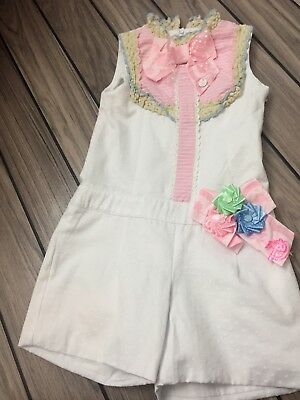 Little Darlings Playsuit Age 6 Excellent Condition