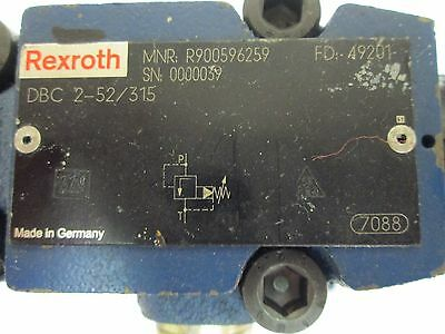 Rexroth DBC 2-52/315 Hydraulic Presure Relief Valve Pilot Operated