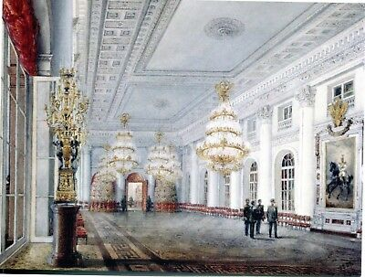 Postcard The Great Hall In The Winter Palace In St. Petersburg, Russia