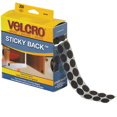"VELCRO® Brand Velcro Tape Combo Packs Dots 3/4"" Black 200/Case VEL152"