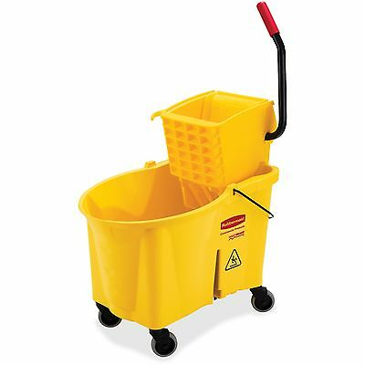 "Rubbermaid Side Press Combo Wavebreak 44Qt 17""x24""x38"" YW 618688YEL"