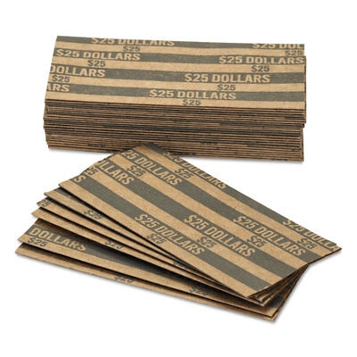 Coin-Tainer Flat Coin Wrappers Dollar Coin $25 Pop-Open Wrappers 1000/Box 30100