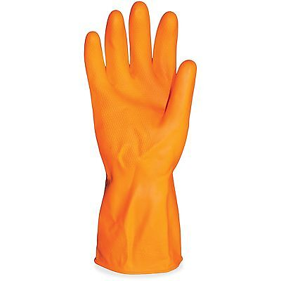 "Impact Latex Gloves Deluxe Flock Lined 12""L Large 12/DZ Orange 8430L"