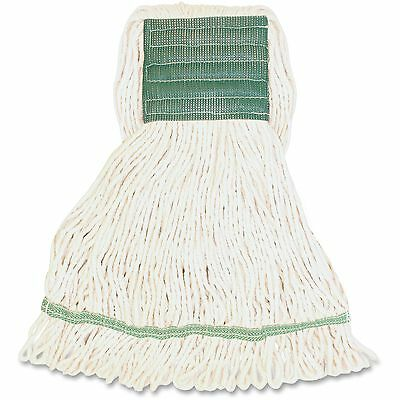 Genuine Joe Synthetic Blend Wide Band Lopped Mop 16oz. 12/CT White MWH5BCT