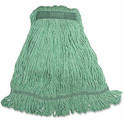 Genuine Joe Med Bland Narrow Band Looped Mop 12/CT Green MGR1BCT