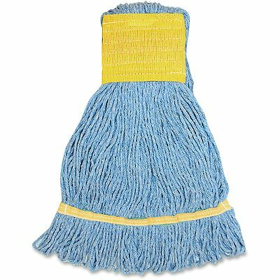 Genuine Joe Small Blend Wide Band Loop Mop 12/CT Blue SBL5BCT
