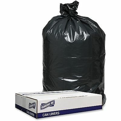 "Genuine Joe Trash Can Liners, 1.2mil, 33""x39"", 100BG/CT, Black 98207"