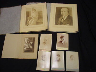 Antique Collectable Lot Of 8 Cabinet And Portret Type Photographs Photos